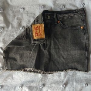 Levi Strauss Black Denim Mini Skirt